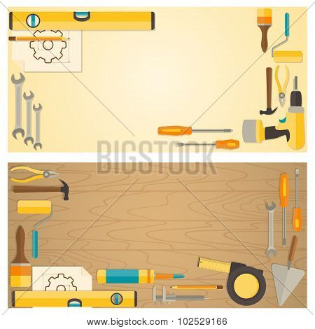 Web banner concept of DIY shop.