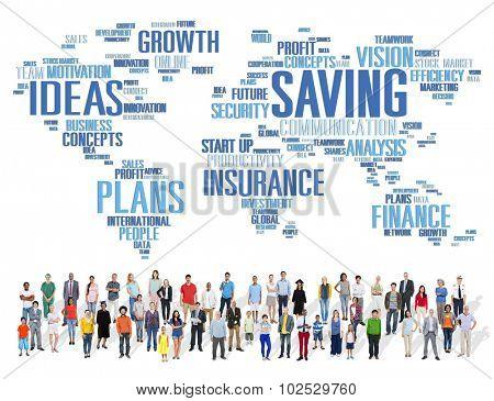 Saving Finance Global Finance World Economy Concept