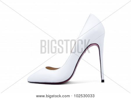 Women's White Shoes With High Heels For Wedding