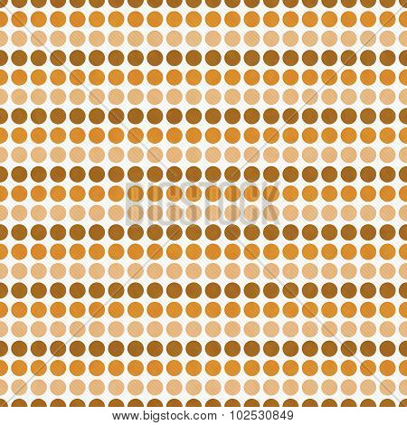 Orange And White Polka Dot  Abstract Design Tile Pattern Repeat Background
