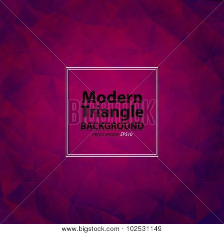 Triangle Purple Background With Light. Abstract Diamond Pink And Violet Colors  Pattern. Can Be Use
