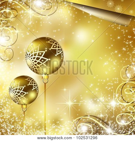 The best gold Christmas background