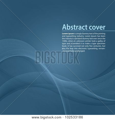Clean background with  blue gradient and blend. Business style or technology clean design. Modern ve