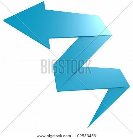 Bend Blue Arrow