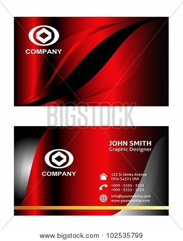 Red business card templates