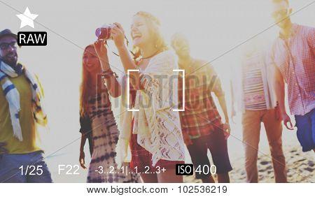 Camera Focus Capture Memories Photography Preview Concept