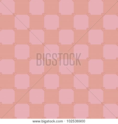 Pink color hearts pattern