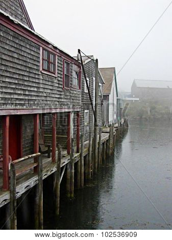 Fish Sheds In The Cove