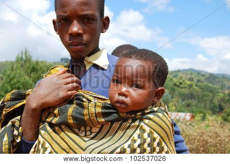 African children on the Mount of Kilolo, Tanzania - Africa