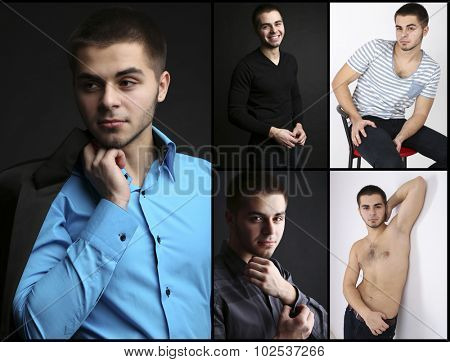Snapshot of model. Handsome young man