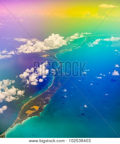 Aerial View Of The Bahamas, Psychedelic Effect