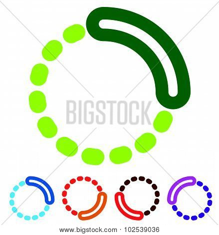 Preloader Or Buffer Shapes, Circular Elements, Symbols. User Interface Concept. Step, Completion, Ph
