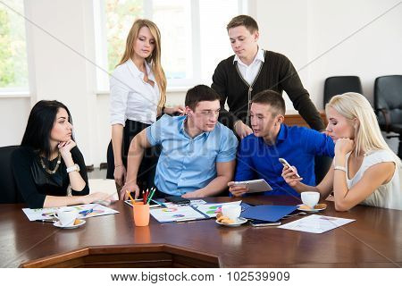 Young Businessmen  At A Business Meeting