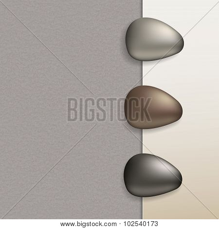 Pebbles And Paper Vector Texture