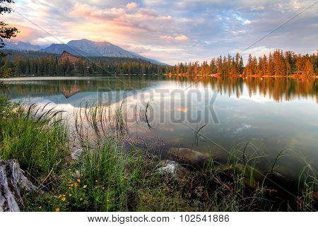 Slovakia Nice Lake - Strbske Pleso In High Tatras At Summer