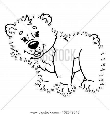 dot to dot bear game.