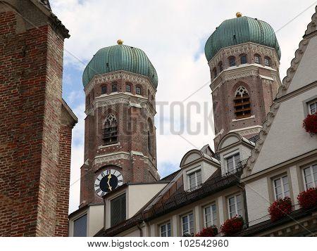 Frauenkirche Church In Munich, Germany