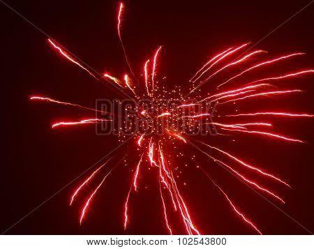 Firework in sky