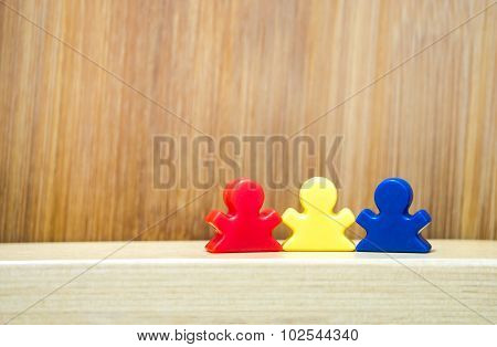 Three toys In Concept Of Family Game