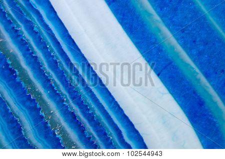 Crystal Blue Onyx. Macro.