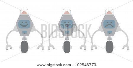 Flat design robots