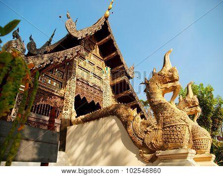 Naga Starway At Wat Chedi Luang, Chiang Mai