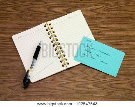 Ukrainian; Learning New Language Writing Words On The Notebook