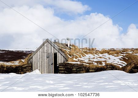 Tiny Hut In Iceland