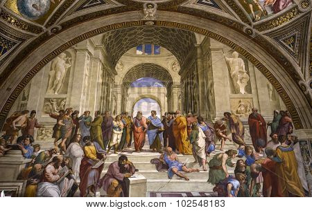 Interiors Of Raphael Rooms, Vatican Museum, Vatican