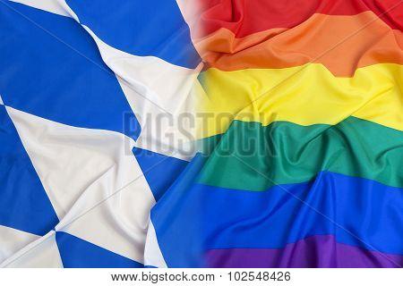 Bavaria Flag Vs. Rainbow Flag