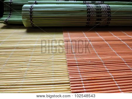 Colorful Bamboo Place Mats