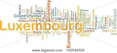 Background concept wordcloud illustration of Luxembourg