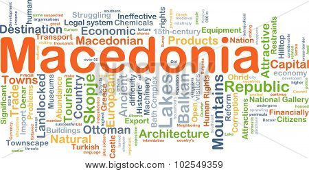 Background concept wordcloud illustration of Macedonia