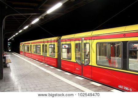 S-bahn Station In Berlin, Germany