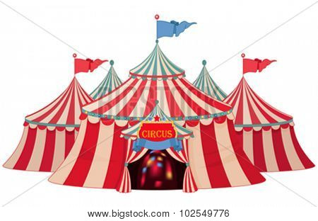 Illustration of circus marquee