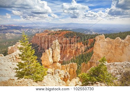 Rock Formations In Bryce Canyon National Park, Usa.