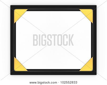 Blank desk pad and paper isolated on a white background.