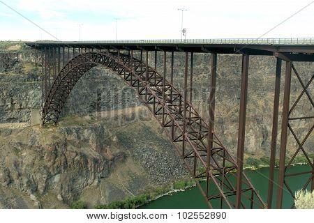 Bridge spans river