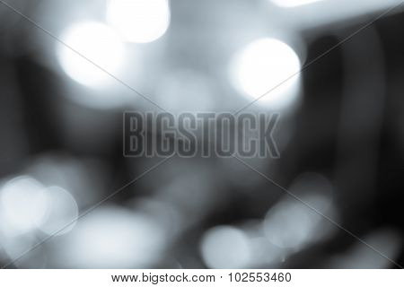 Abstract Blur Bokeh Defocused Of Light In City  Gray Selenium  Tone Background