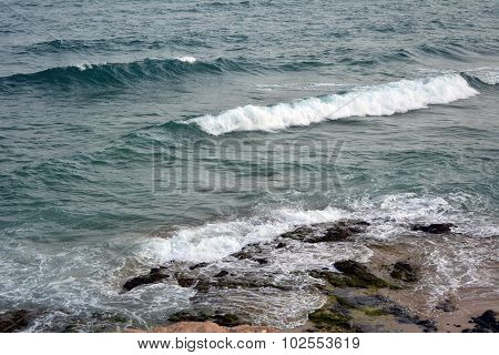 Beautiful tropical beach on paradise Island. Canary Island Fuerteventura Spain.