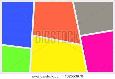 Abstract Multicolored Panels