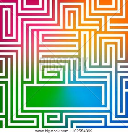 Rainbow-gradient-background-glowing-maze