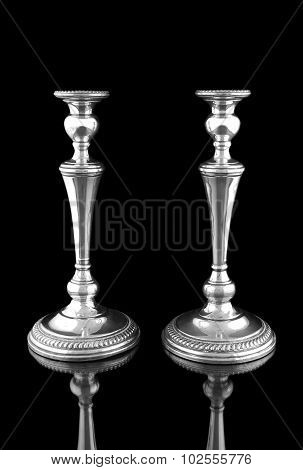 Candlesticks on a black background