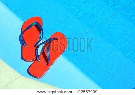 Pair Of Red Flip-flops