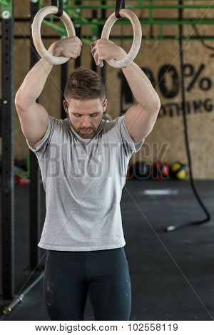 Strongman With Gymnastic Rings
