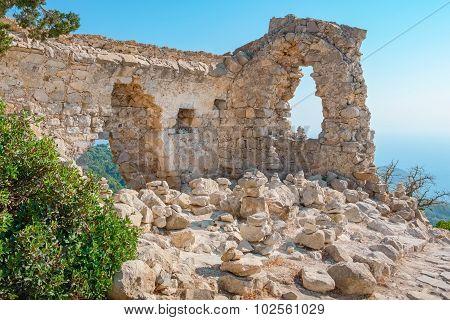 Monolithos Castle Ruins. Rhodes, Greece