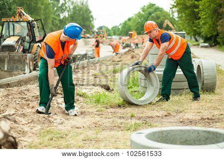 Builders Working Hard