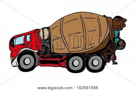 vector  - agitation truck tuning isolated on background