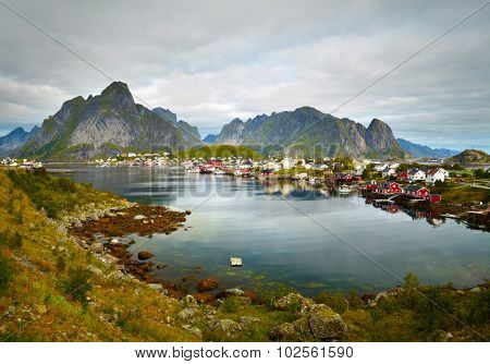 Reine fishing village.  Lofoten Islands, Norway