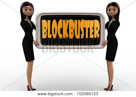 3D Woman Blockbuster Concept